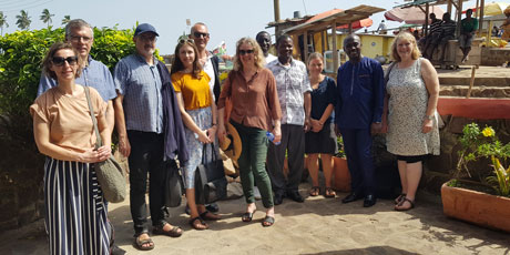 Danida visiting the HOTSPOT project; excursion to Elmira Habour and Fish Market